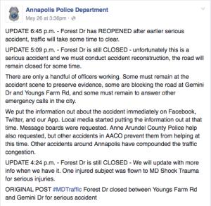 APD Facebook Status May 26, 2016
